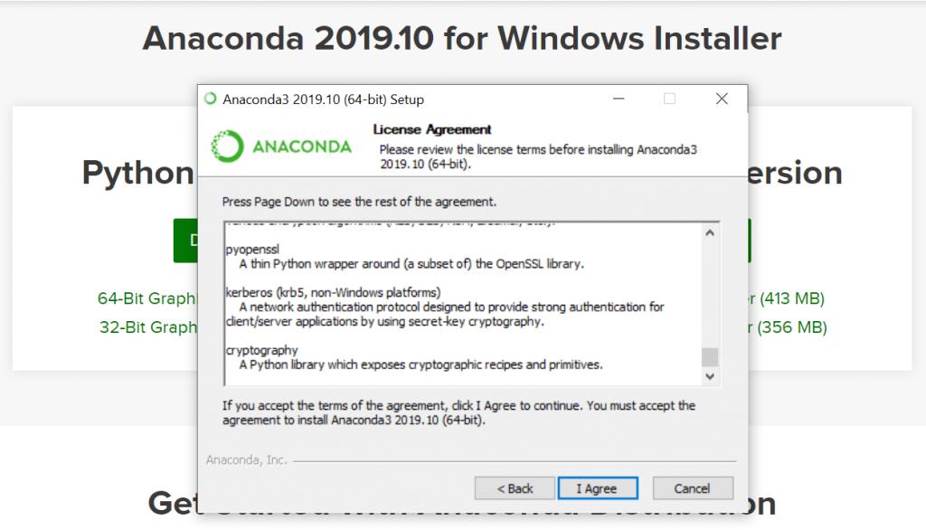 Anaconda Licese Agreement