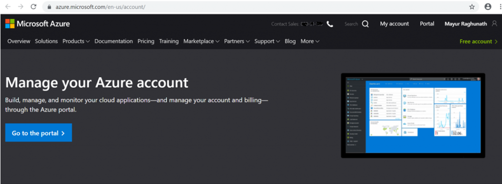 Manage Microsoft Azure Account