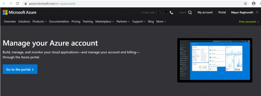 Manage Microsoft Azure Account