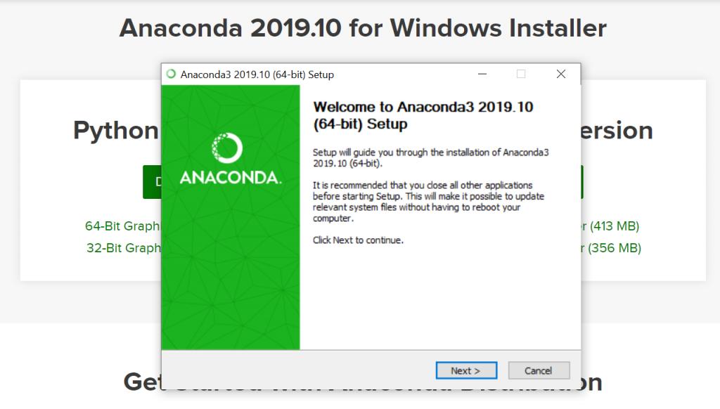 Python Anaconda Windows Installation