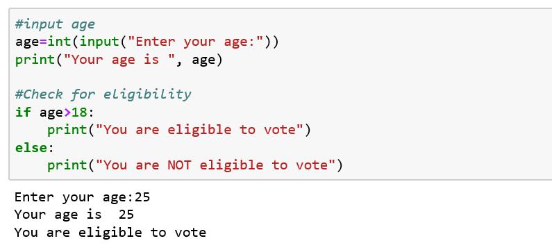 Python if else code_