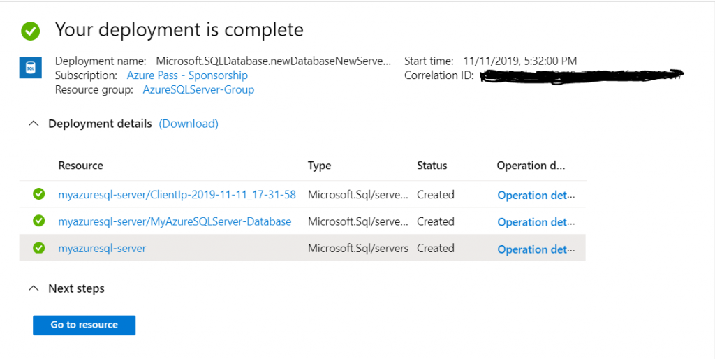 Verify New Microsoft Azure - SQL Server _ Database
