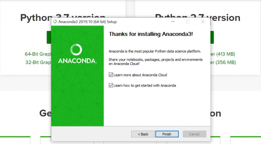 installing python anaconda